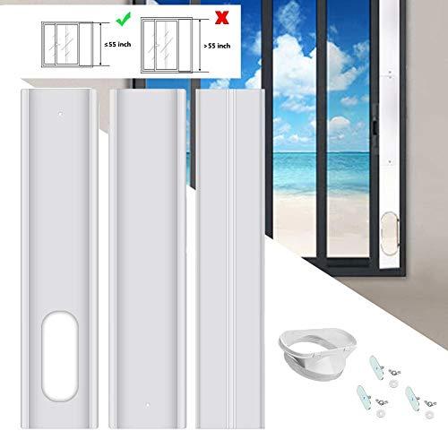 flower205 Klimaanlage Fensterabdichtung Verstellbares Fensterschiebeplatten Kit Fensterabdichtung Für Mobile Tragbare Klimaanlage Für 13CM Auspuffrohr 4 Stück Set
