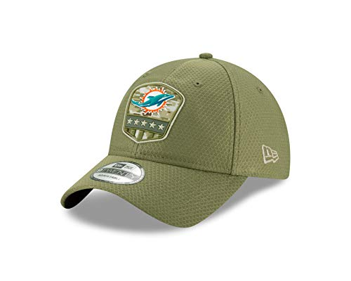 New Era Miami Dolphins 9twenty Adjustable Cap On Field 2019 Salute to Service Olive - One-Size