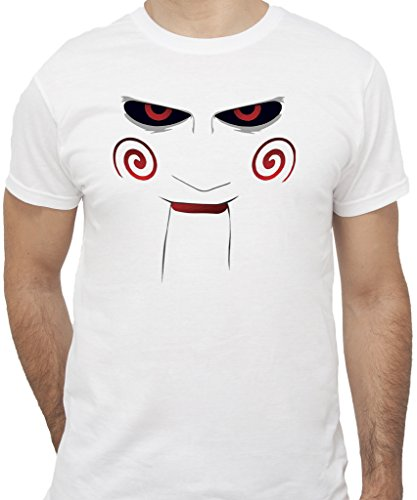 New Indastria T-Shirt Saw L'ENIGMISTA Pupazzo - by Uomo-XXL-Bianca
