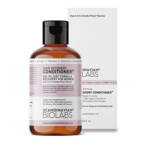 Scandinavian Biolabs Hair Recovery Conditioner for Women | All-Natural Hair Growth Treatment | Protects Hair Strands, Recovers Hair Shafts, No Split Ends