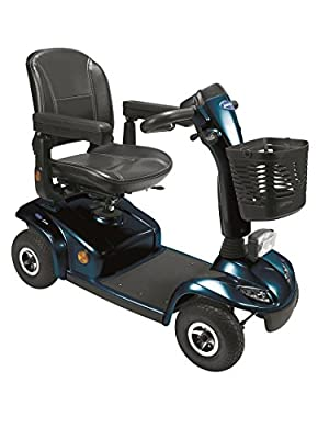 Invacare Leo Mini 4mph Pavement Mobility Scooter with Seat Suspension - Blue