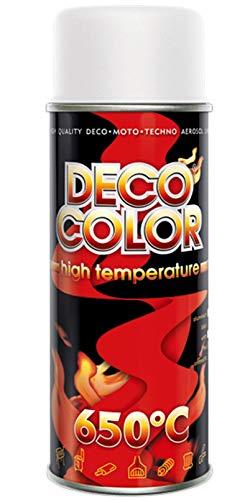 Deco Color Spray de pintura resistente al calor de alta temperatura estufas tubos de escape para barbacoa VHT XHT (color blanco)