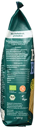 Bauckhof Haferbrot glutenfrei, 3er Pack (3 x 500 g) – Bio - 4