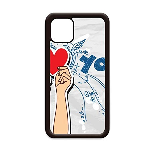 Holding Heart Sign I Love You Valentine Capa para iPhone 12 Pro Max para Apple Mini Mobile Case Shell