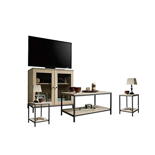 Home Square 4 Piece Living Room Set with Coffee Table and TV...