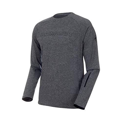 Mammut Crashiano T-Shirt à Manches Longues pour Homme M Noir