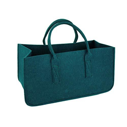 Vilten tas haardhout groen