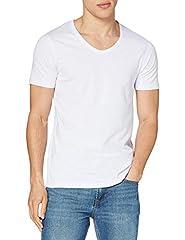 JACK & JONES Camiseta Cuello Pico Hombre Blanca