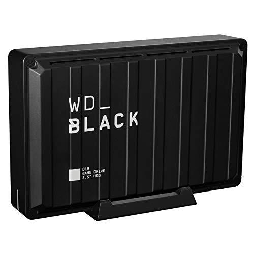 Western Digital WD 8TB Black D10 Game HDD Portable External Drive USB 3.2