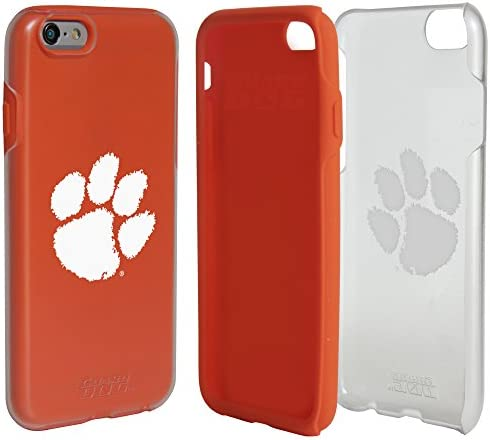 Guard Dog Clemson Tigers Clear Hybrid Case for iPhone 6 6s with Orange Insert product image