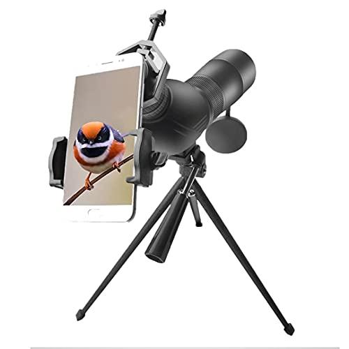 HGTRH Monocular Vision Nocturna Militar, Zoomshot PortáTil Profesionales con Adaptador Soporte para Smartphone Y TríPode para Juego Pelota Avistamiento Aves Caza Camping