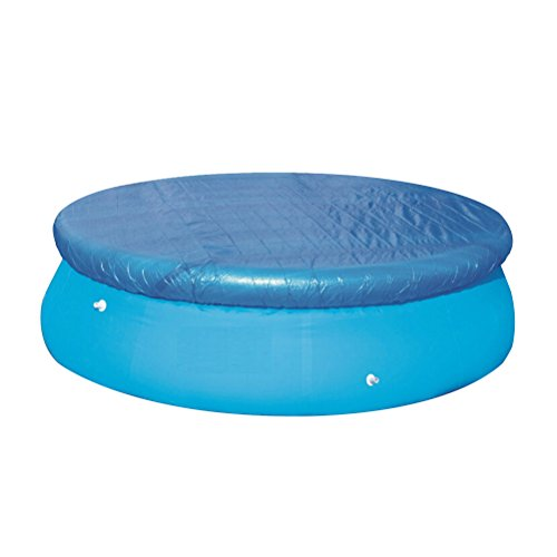 BESTOMZ Swimming Pool Cover 8 Feet for Frame or Inflatable Fast Set Pool Blue