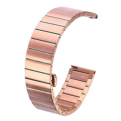 GYZX 18 mm 20 mm 22 mm Reloj de Banda de Reloj de Acero Inoxidable Universal Reloj de 46 mm 3 Gear S3 Correa de Repuesto Pulsera (Color : Pink, Size : Classic 22mm or S3)