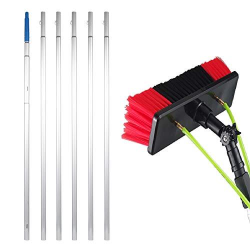 Cepillo de limpieza portátil, cepillo de cristal, herramienta de limpieza de ventanas, extensible, barra telescópica portátil, panel solar, spray de agua, cepillo de limpieza