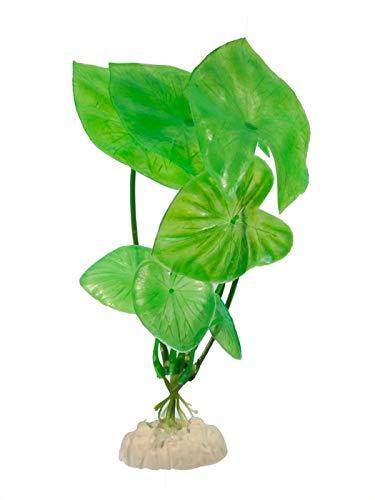 Kunststoffpflanze Nymphea lotus 20cm Wasserpflanze Aquarium Künstliche Pflanze