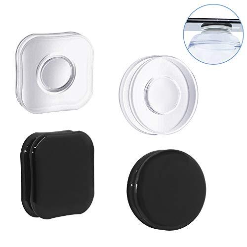 FineGood Wiederverwendbare Nano-Gel-Griffpads, waschbar, doppelseitig, klebrige Handyhalterungen, multifunktional, rückstandslose Magic Sticker, 4 Stück