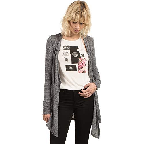 Volcom Damen Go Go Wrap Open Front Cardigan Sweater - Elfenbein - Mittel