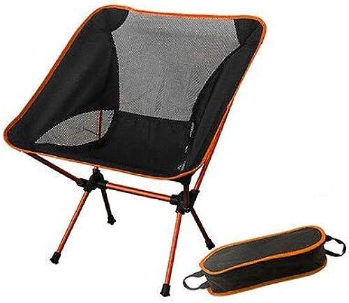 STARKWALL Siège portable Chaise De Pêche Léger Rapide Russie Stock Camping Tabouret Pliant Mobilier De Jardin portable Ultra lumière Chaise Orange