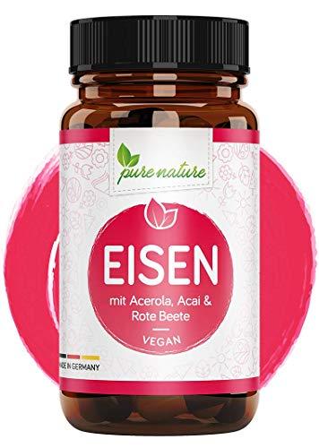 Eisen Kapseln hochdosiert + Pflanzliche Blutnährstoffe I 120 Eisen Kapseln I hoch bioverfügbar mit...