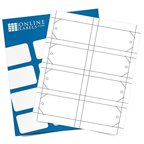 Printable Tags - 2 x 3.5 - Cardstock - Pack of 800, 100 Sheets - Inkjet/Laser Printer - Online Labels