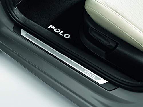 Volkswagen 6R4071303 Embellecedor de umbral Polo 5 GP 5 Puertas de Acero Inoxidable