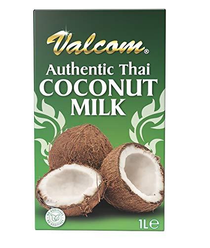 Valcom Premium Thai Kokosnussmilch, Kokosnuss, 1L (12er Pack)