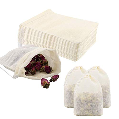 Pveath Bolsa de algodón con cordón, 20 unidades, bolsa de algodón pequeña con cordón, bolsa de tela para verduras y frutas, bolsa de alimentos para bodas, fiestas, festivales, almacenes, 18x20cm