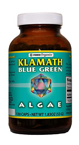 Klamath Blue Green Algae 130 VegCaps by Power Organics