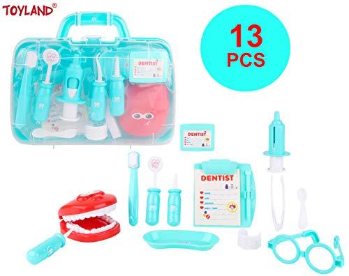 Toyland® Zahnarztkoffer-Spielset mit Zubehör - Kinder-Rollenspielspielzeug