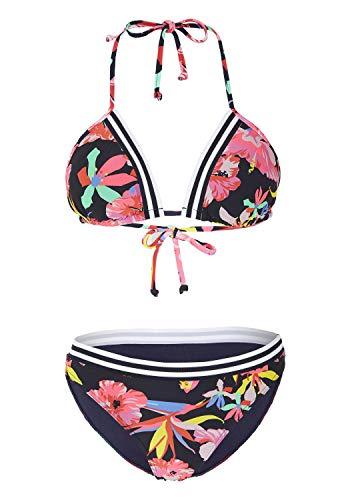 Chiemsee Damen Bikini, Dk Blu/Pink AOP, 36/A/B