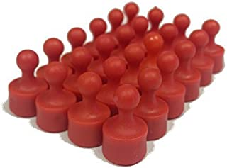 24 Pawn Magnetic Push Pins - Perfect Fridge Magnets, Whiteboards, and Maps (Red)