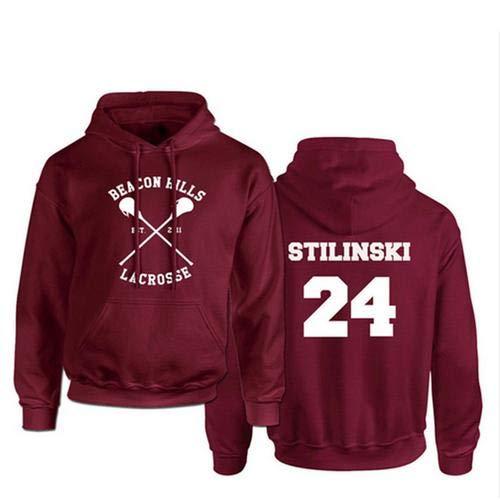 Funsquare Sweat-Shirt À Capuche Beacon Hills Lacrosse Adolescent Wolf McCall Stilinski Lahey