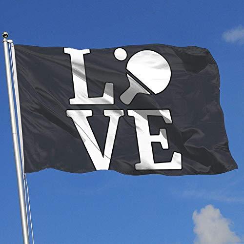 wallxxj Bandera del Jardin Bandera De Demostración Amor Mesa De Ping Pong Bienvenida Estándar Vacaciones En El Patio Trasero 90X150Cm Hogar Decorativo Jardín Temporada De La Bandera Moda