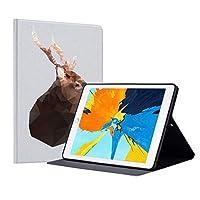 IPad 9.7 2017/2018 iPad Pro 9.7 iPad Air 1/2用ケース、軽量保護ケース、スリムPUレザーマルチアングルスタンド,Deer1,withoutholder