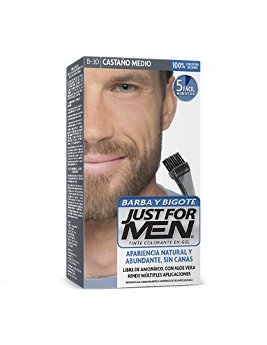 Just For Men Tinte Colorante en Gel para Barba y Bigote, Cubre las Canas, Color Castaño Medio (B-30), 28.4 g