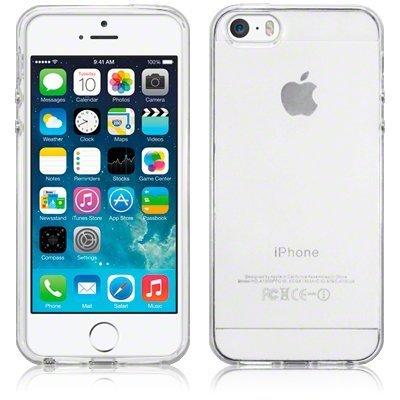 SDTEK Custodia per iPhone SE (2016-2019) / iPhone 5 / 5s Cover Case Bumper Caso Trasparente Crystal Clear Silicone Gel