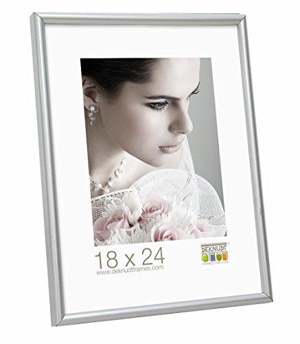 Deknudt Frames S011D1 40 x 50 Cornice Grigio Argento Resina