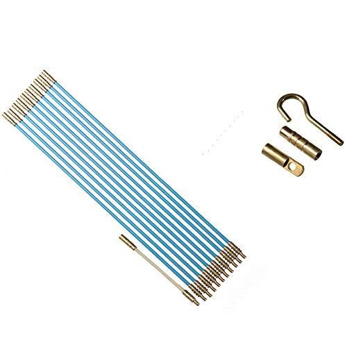 13 teiliges Set Kabel Verlegewerkzeug 3,30m aus glasfaserverstärktem Polyesther