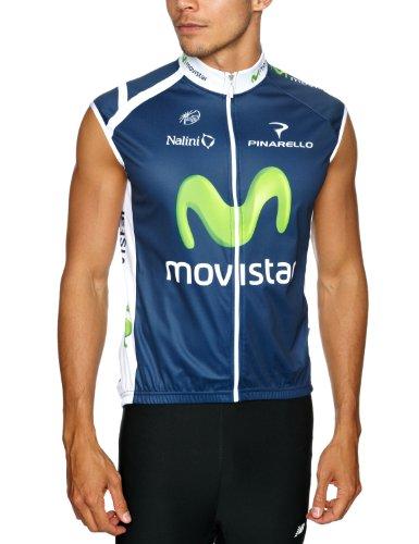 Nalini Gilet - Maillot de Ciclismo para Hombre, tamaño XXL, Color movistar