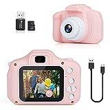 DreamHigh Cámara de Fotos Digital para Niños, 1080P 2.0' HD Selfie Video Cámara Infantil con Tarjeta TF 32 GB, Regalos para Niños de 3-10 Años (Rosa)