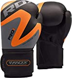 RDX Boxing Gloves for Training and Muay Thai, Maya Hide Leather Mitts for Sparring, Fighting and Kickboxing, Great for Punch Bag, Focus Pads, Grappling Dummy and Double End Speed Ball Punching