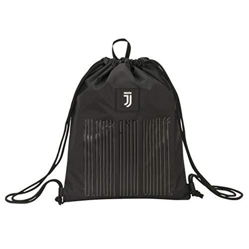 F.C. Juventus Sacca Zaino Coulisse Juventus Black And Withe Dimensioni 37x47 cm circa