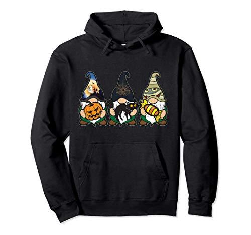Disfraz de camisa de gnomo de Halloween para mujer Calabaza Sudadera con Capucha