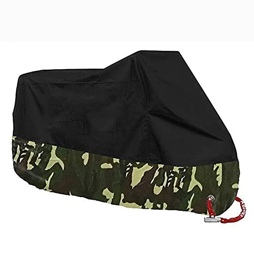 Motorcycle Cover, Sunshade, Electric Car, Waterproof, Reflective, Lock Hole, Rainproof Car Cover,Black-L