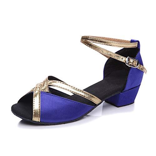 SXSHUN Niñas Zapatos de Baile Latino de Salón (Talla EU 23-40) Zapatos...