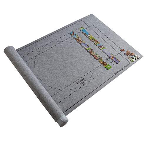 Skxinn Puzzle Roll Puzzle Aufbewahrungsfilzmatte, umweltfreundliches Material, Jigroll Bis zu 1.500 Stück, mit 1 aufblasbaren Schlauch, 1 Pumpe und 3 Gummibändern(01 B,One Size)
