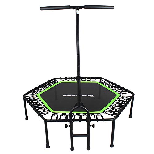antifiction Personal Elastic Springless Trampoline with Handle Fun Fitness Workout Activity Toy for Kids & Adults Indoor Outdoor