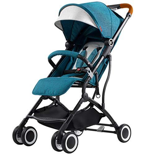 Meen kinderwagen, Light to Sit Reclining Umbrella inklapbare kinderwagen met vier wielen blauw
