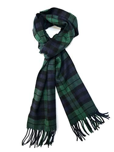 Calvia Cashmere Feel Scarf - Super Soft & Warm for Winter - Elegant Looks for Women & Men (Amazon Forest Green)