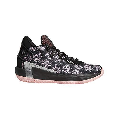 adidas Dame 7, Zapatillas de Baloncesto Unisex Adulto, NEGBÁS/ROSGLO/Plamet, 41 1/3 EU